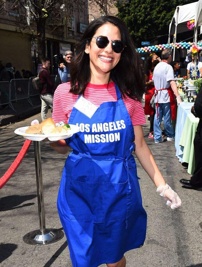 Inbar Lavi - Los Angeles Mission Easter Celebration in LA
