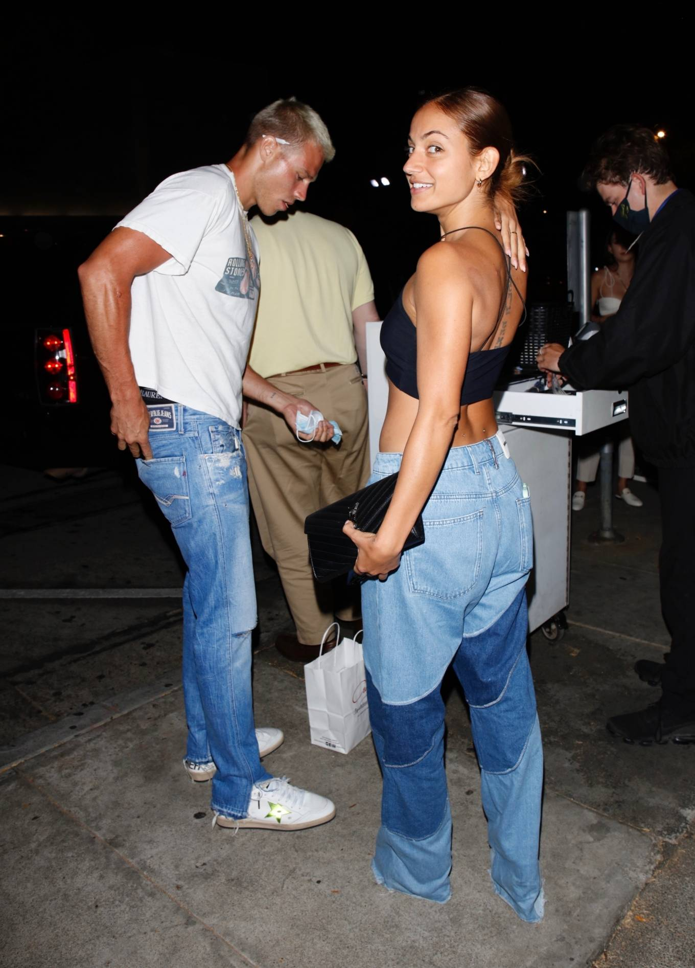 Innana Sarkis - With Matthew Noszka seen leaving their dinner date at Craig's in West Hollywood