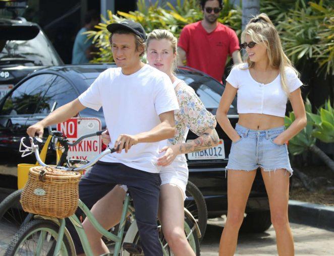 Ireland Baldwin and Charlotte McKinney out in Malibu