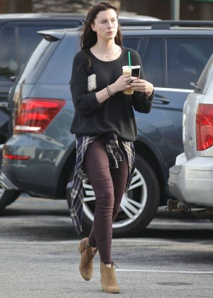 Ireland Baldwin at Starbucks in Malibu