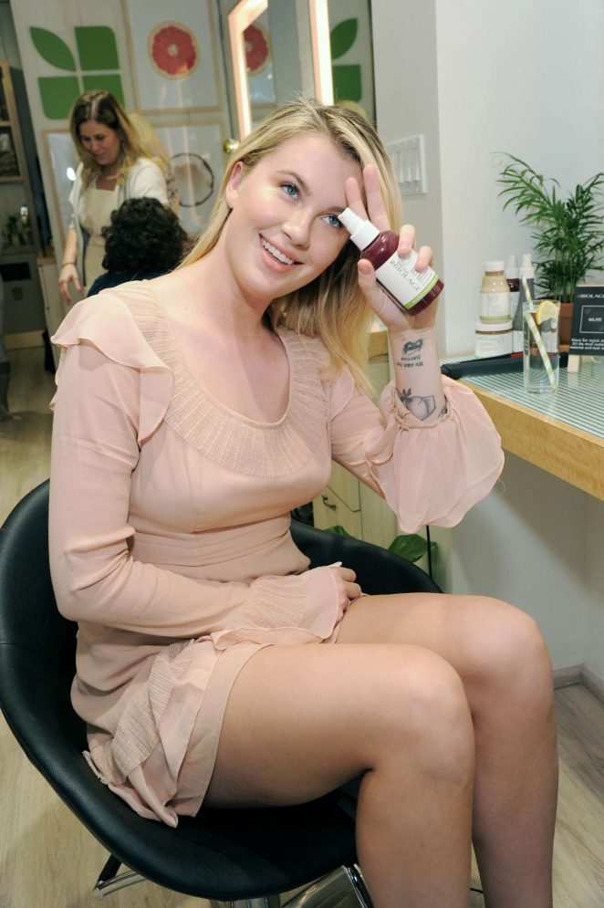 Ireland Baldwin at the Biolage R.A.W. Styling 'Naked Touch' Experience at the J. Christopher Salon in NYC