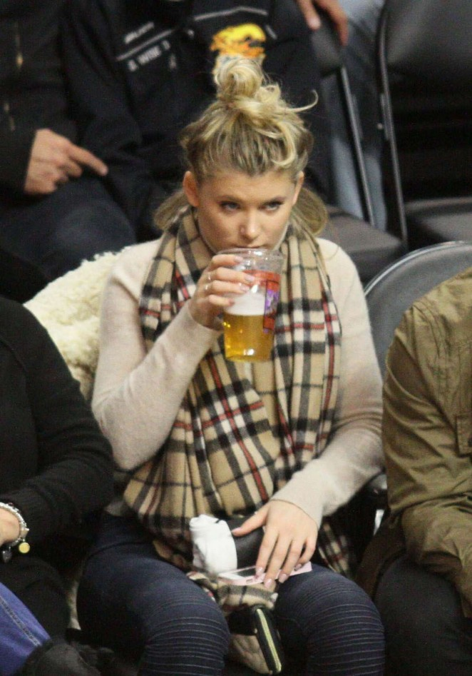 Ireland Baldwin at the Clippers Game in Los Angeles