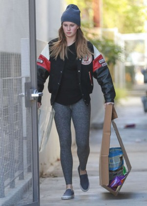 Ireland Baldwin cleaning out her house in Santa Monica