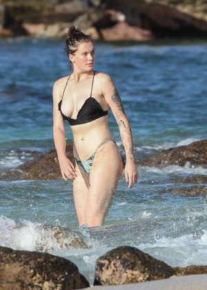 Ireland Baldwin in Bikini Doing a Photoshoot at a Beach in Hawaii