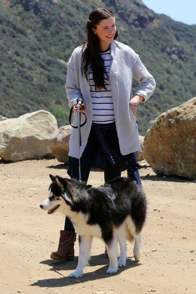Ireland Baldwin - Hike with her dog in Malibu