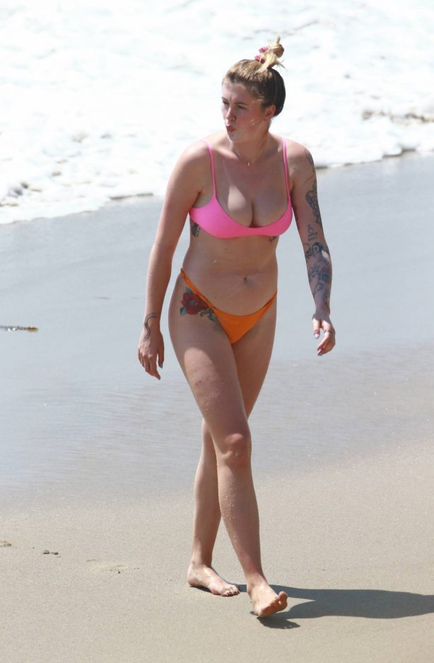 Ireland Baldwin - In a bikini with her boyfriend Corey Harper at the beach in Malibu