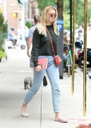 Ireland Baldwin in Blue Jeans out in New York City