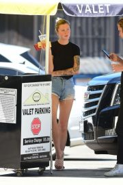 Ireland Baldwin in Denim Shorts - Out in Los Angeles