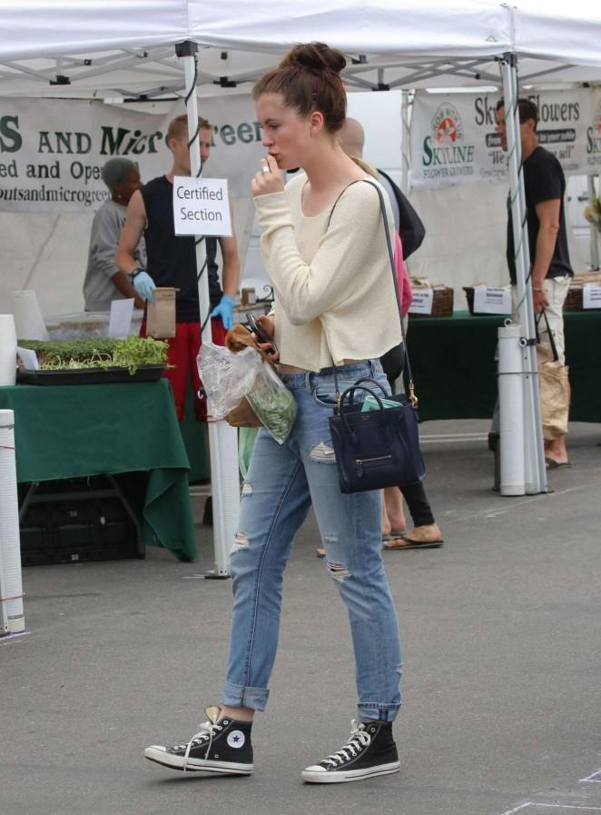 Ireland Baldwin in Jeans at the Farmers Market in Malibu