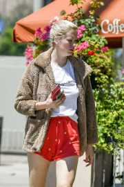 Ireland Baldwin in Red Shorts - Out on Ventura Blvd in Los Angeles
