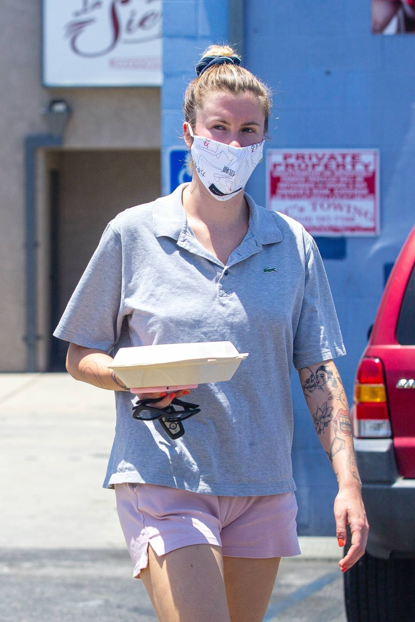 Ireland Baldwin in Shorts - Out in Los Angeles