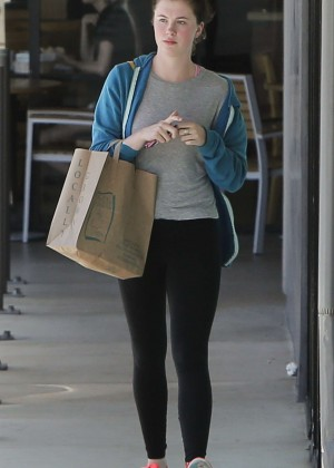 Ireland Baldwin in Tights Out in LA