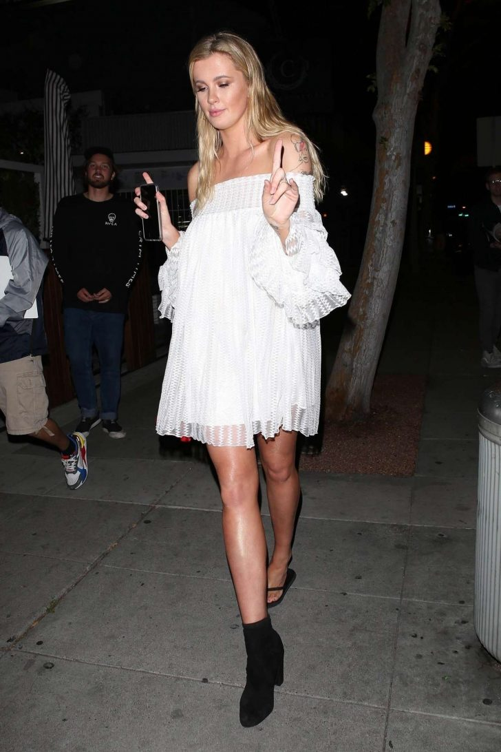 Ireland Baldwin in White Dress - Out and about in West Hollywood