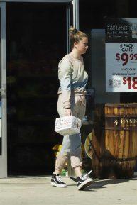 Ireland Baldwin  -Shopping at a liquor store in Los Angeles