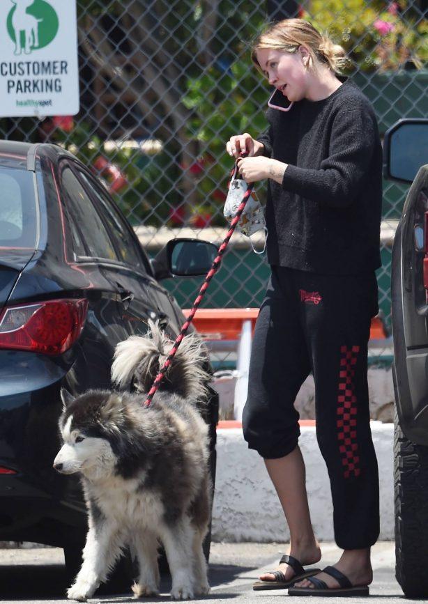 Ireland Baldwin - Taking her dog Koda to the groomers in Los Angeles