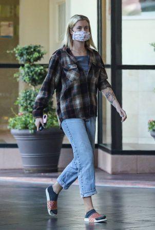 Ireland Baldwin - Wears plaid shirt in Beverly Hills