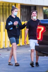 Ireland Baldwin with Cory - Out and about in Los Angeles