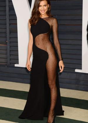 purchase cheap vast selection discount sale Irina Shayk – 2015 Vanity Fair Oscar Party in Hollywood ...