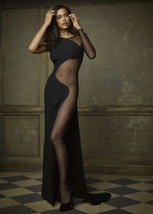 Irina Shayk - 2015 Vanity Fair Oscar Party Portraits in Beverly Hills