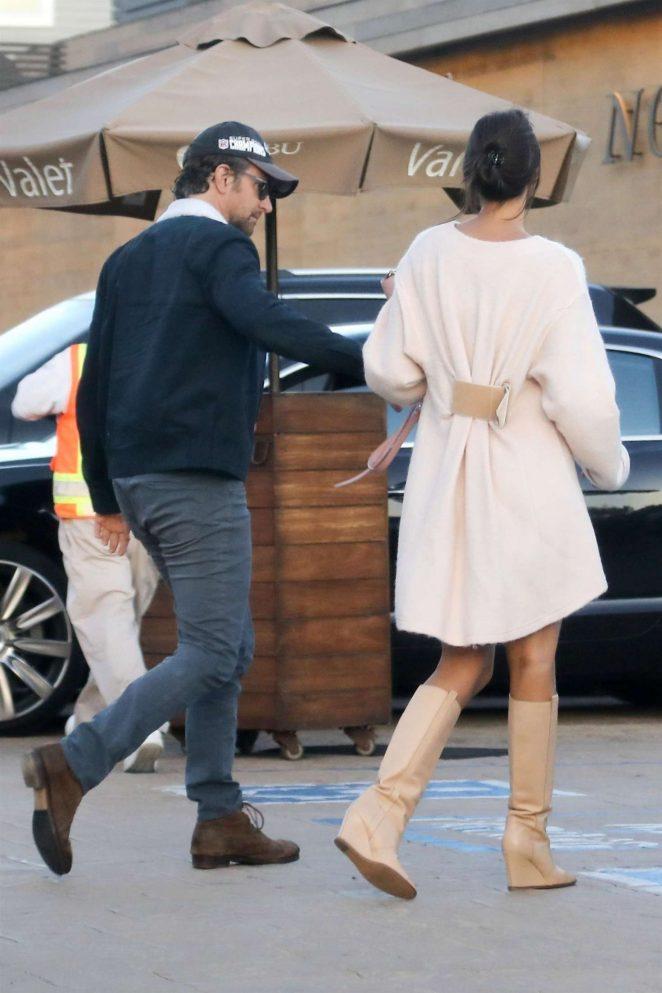 Irina Shayk and Bradley Cooper at Nobu in Los Angeles