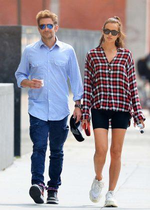 Irina Shayk and Bradley Cooper - Out in New York City