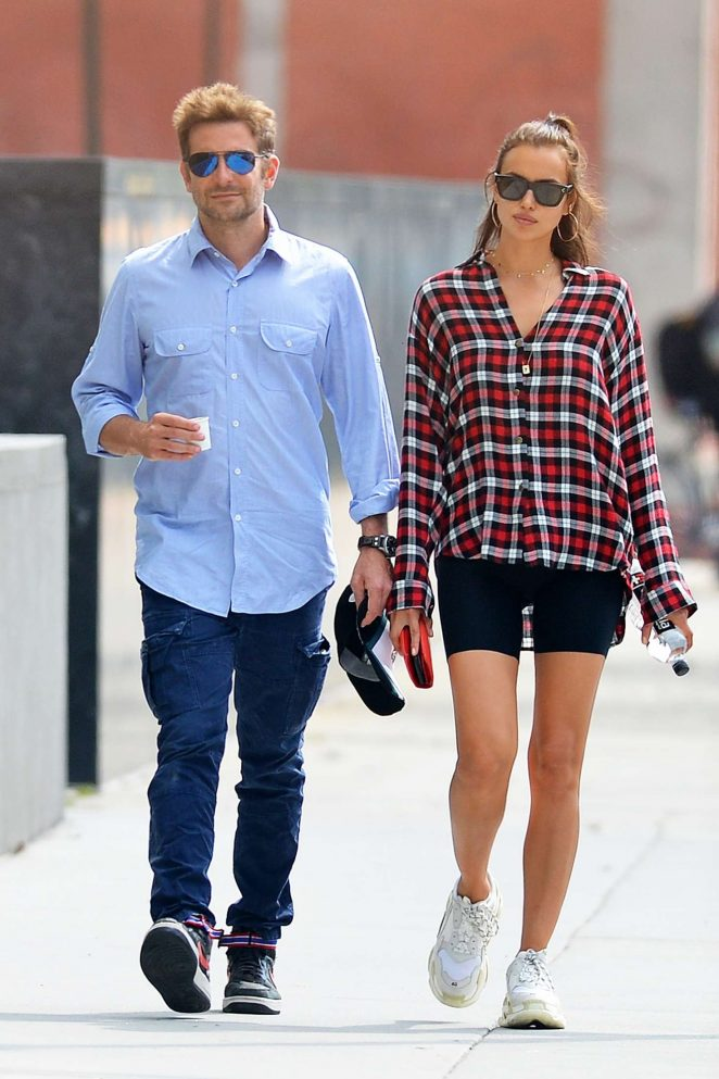 Irina Shayk and Bradley Cooper - Out in New York City