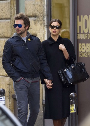 Irina Shayk and Bradley Cooper out in Paris