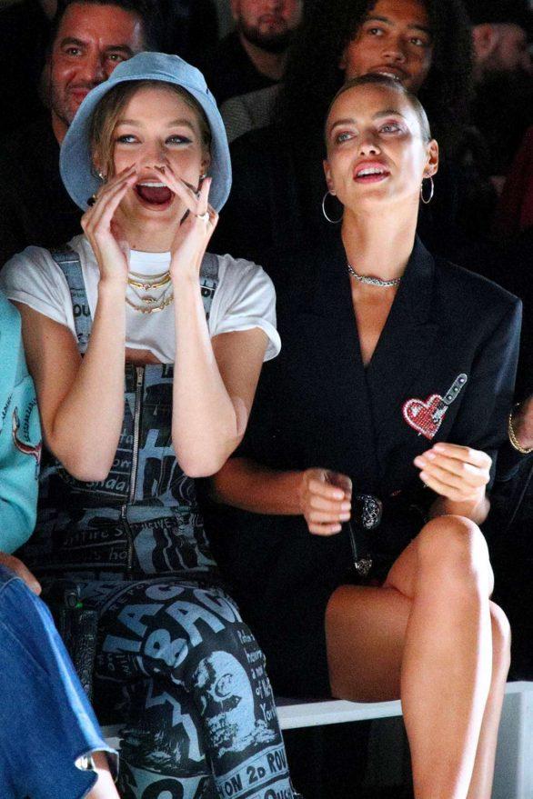 Irina Shayk and Gigi Hadid - Jeremy Scott show at New York Fashion Week 2019