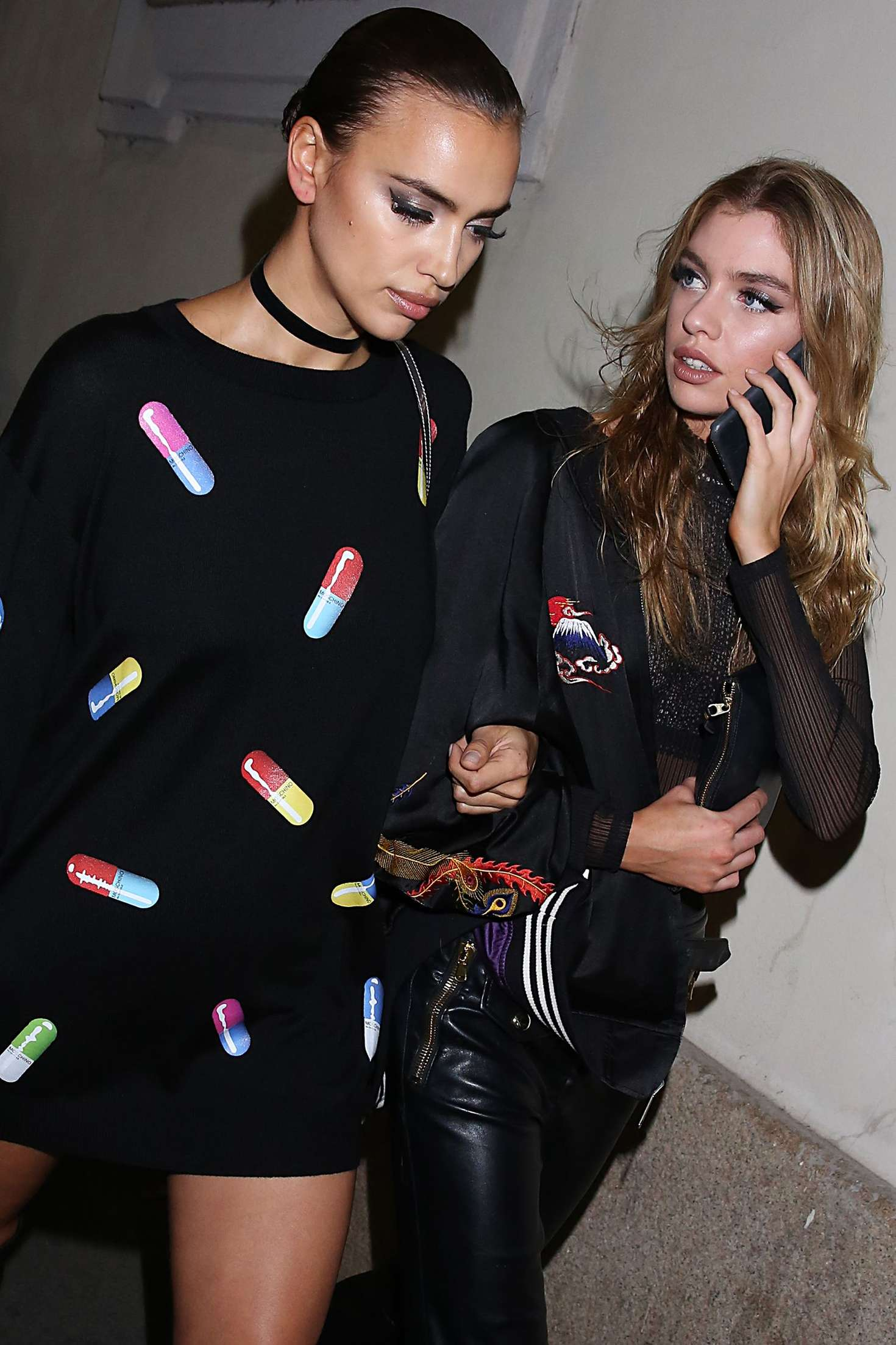 Irina Shayk 2016 : Irina Shayk and Stella Maxwell Leaving Moschino Show 2017 at Milan Fashion Week -02