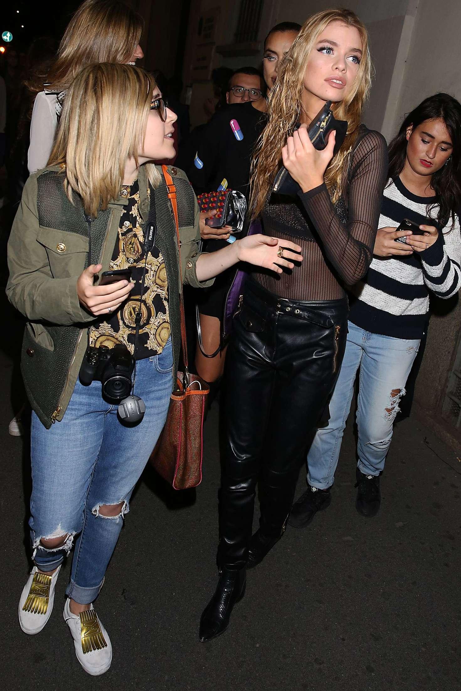 Irina Shayk 2016 : Irina Shayk and Stella Maxwell Leaving Moschino Show 2017 at Milan Fashion Week -13