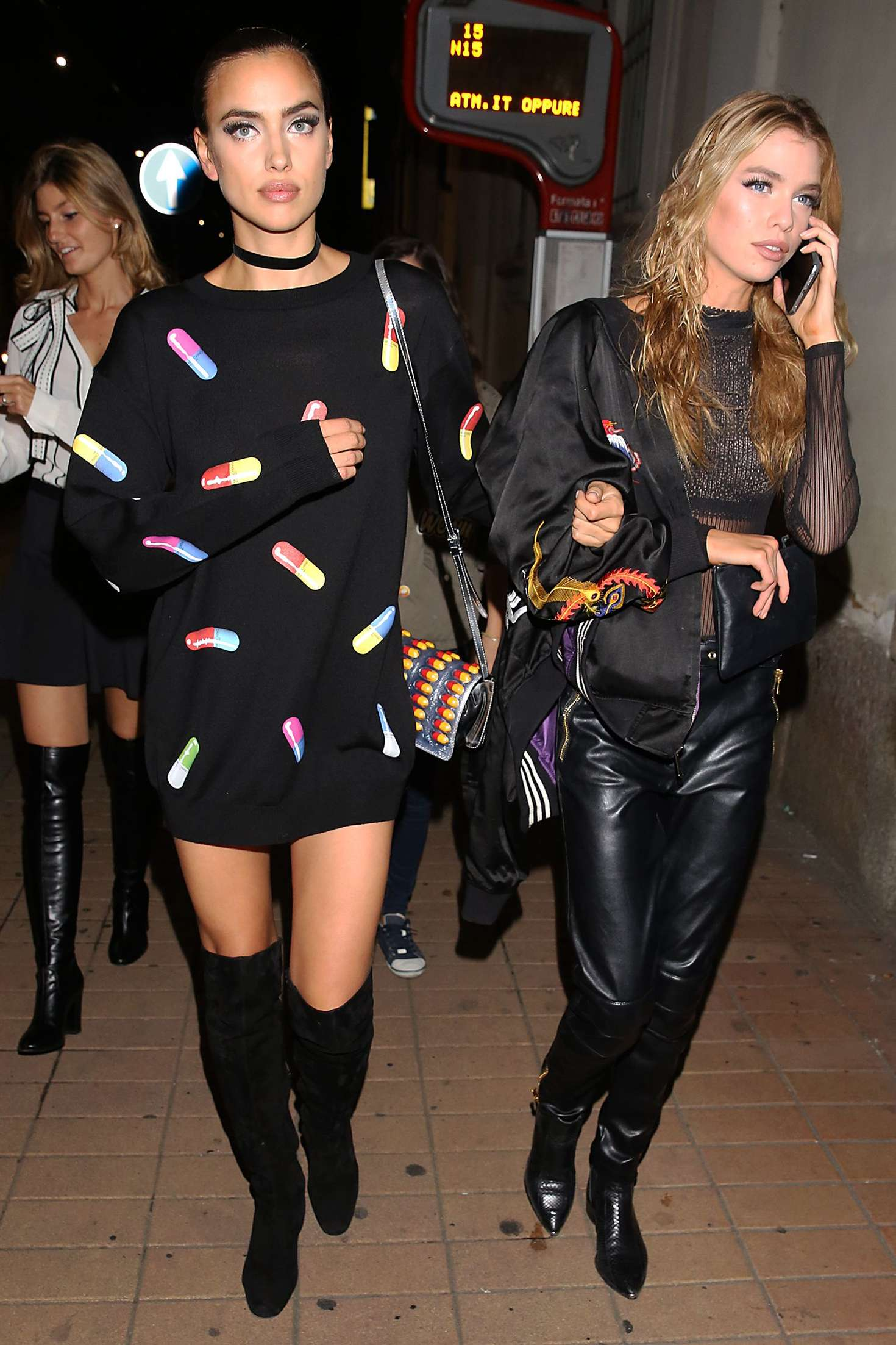 Irina Shayk 2016 : Irina Shayk and Stella Maxwell Leaving Moschino Show 2017 at Milan Fashion Week -18