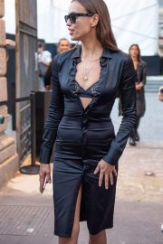 Irina Shayk - Arrives at Bottega Veneta Show at Milan Fashion Week
