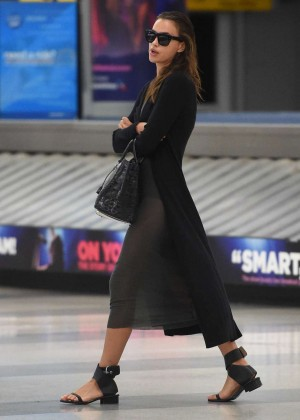 Irina Shayk - Arrives at JFK Airport in NYC