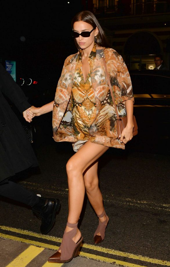 Irina Shayk - Arrives at LFW Love Magazine and Youtube Party in London