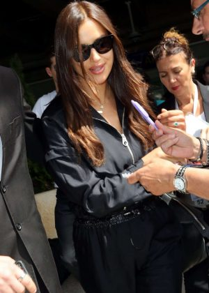 Irina Shayk Arrives at Nice Airport in Cannes
