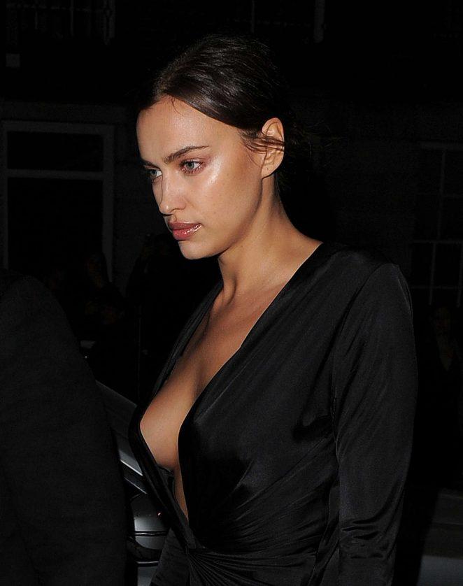 Irina Shayk Arrives at the Edward Enniful VIP Dinner Party in London