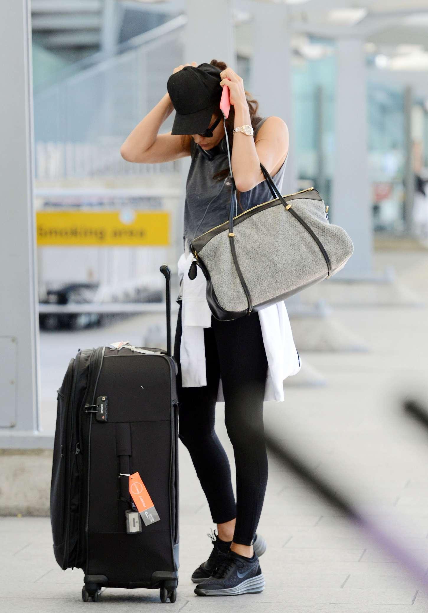 Irina Shayk 2015 : Irina Shayk in Leggings at Heathrow airport -13