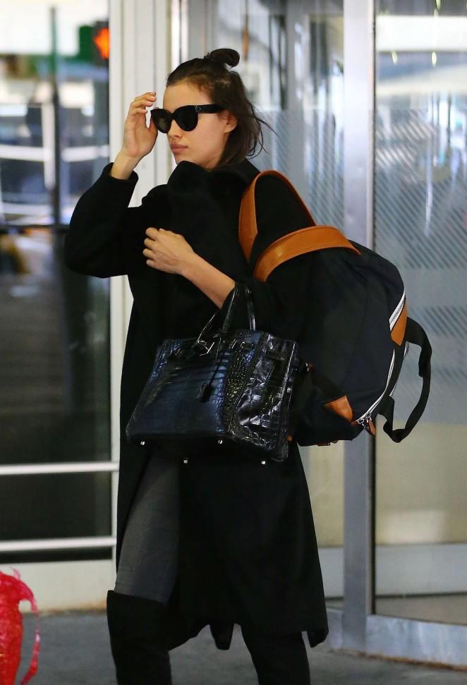 Irina Shayk - Arriving at JFK Airport in New York