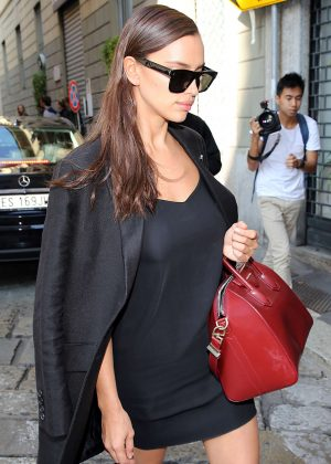 Irina Shayk at Bottega Veneta Show at Milan Fashion Week
