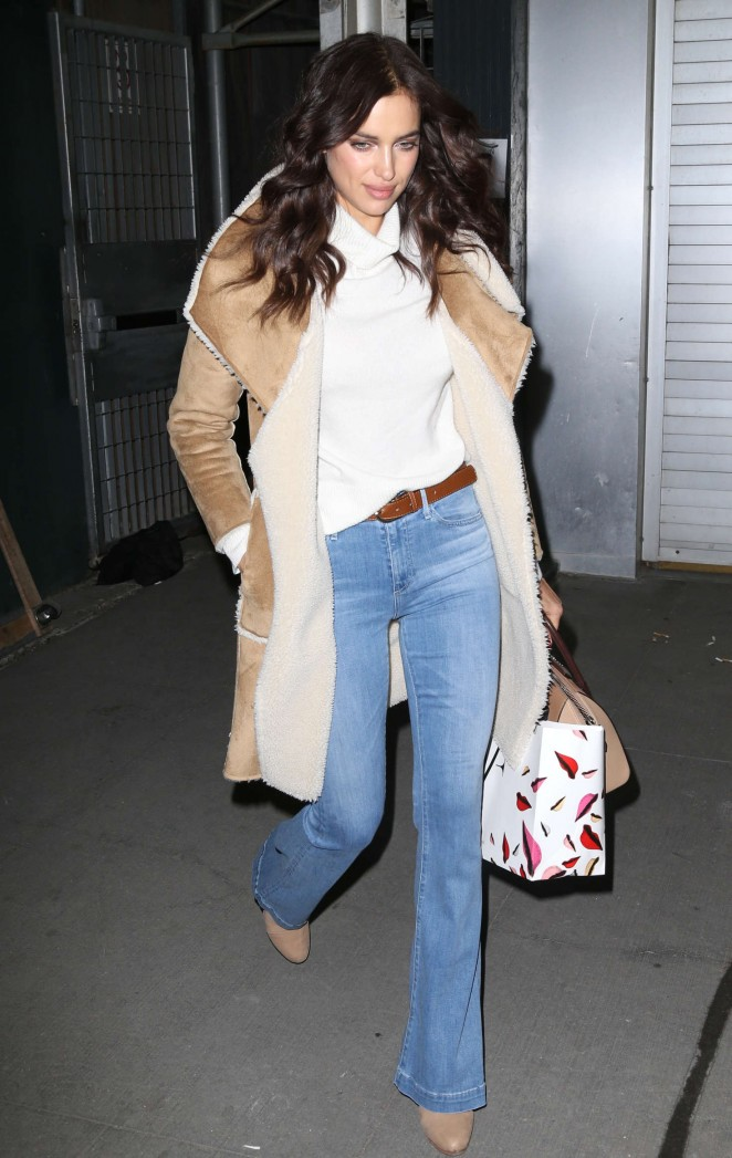 Irina Shayk at Diane Von Furstenberg Fashion Show in New York