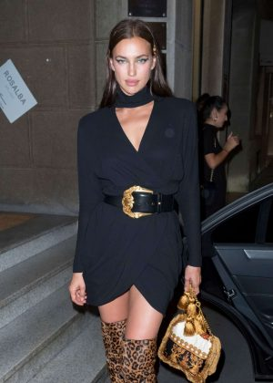 Irina Shayk at Milan Fashion Week in Milan