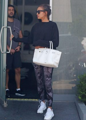 In Gotceleb Los Gym Shayk Irina -05 Angeles The At