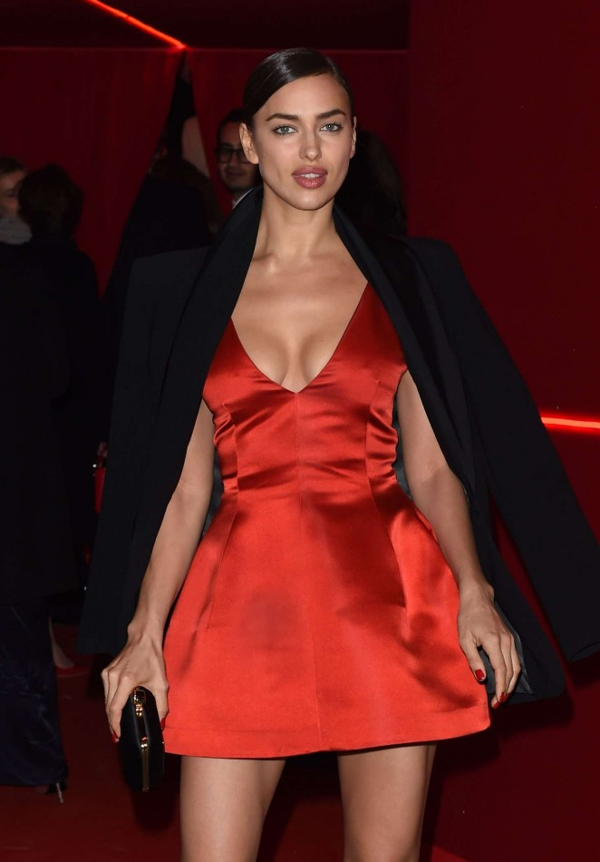 Irina Shayk - Attends at L'Oreal Red Obsession Party 2016 in Paris