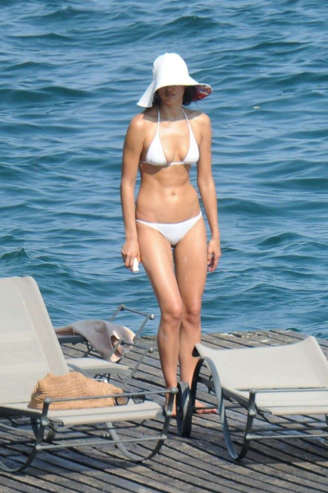 Irina Shayk In White Bikini 11 Gotceleb