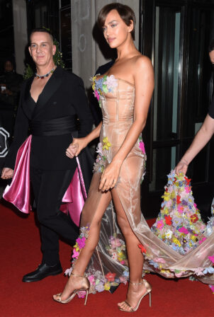 Irina Shayk - departing The Mark Hotel in New York City for the 2021 Met Gala