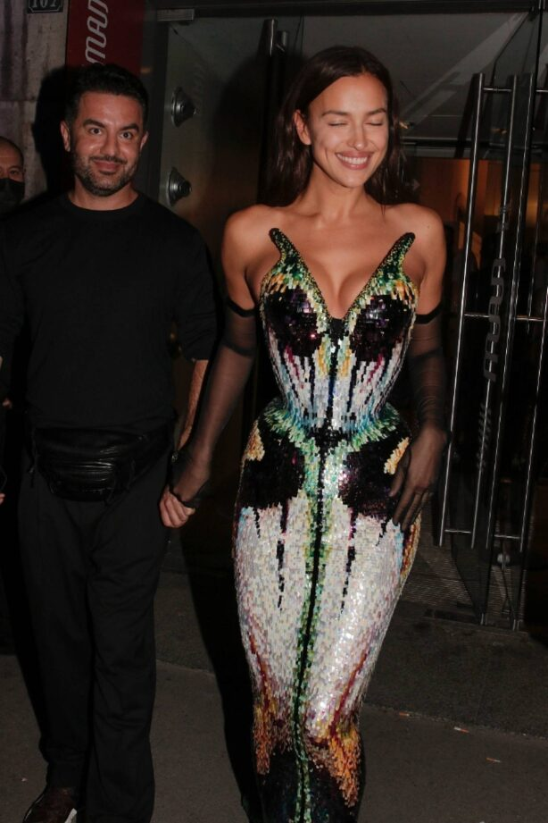 Irina Shayk - Departing the Thierry Mugler Couturissime Photocall as part of Paris Fashion Week