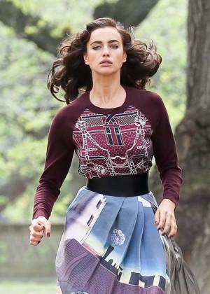 Irina Shayk - Doing a Vogue Photoshoot in New York City