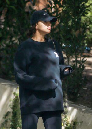 Irina Shayk going to the gym in Santa Monica