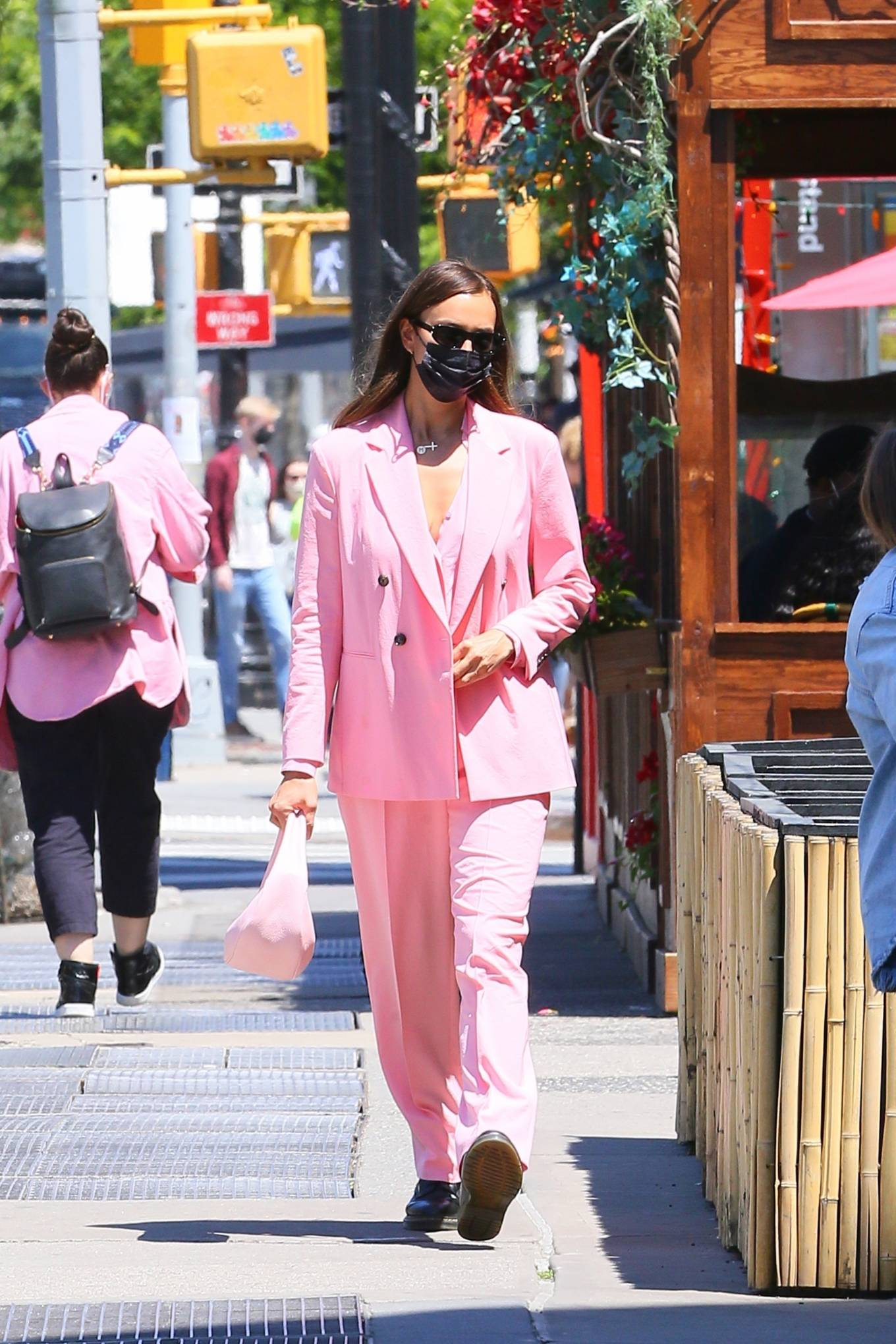 Irina Shayk 2021 : Irina Shayk – In an all pink steps out in New York-10