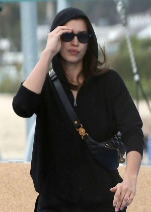 Irina Shayk in Black - Out in Los Angeles